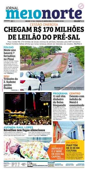 Jornal Meio Norte do dia 2-01-2020