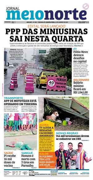 Jornal Meio Norte do dia 15-01-2020