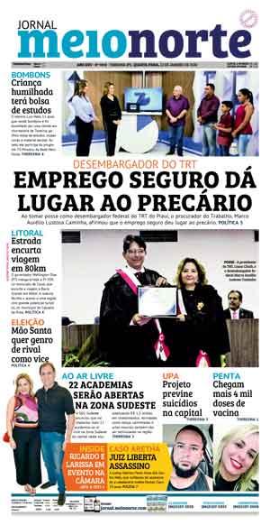 Jornal Meio Norte do dia 22-01-2020