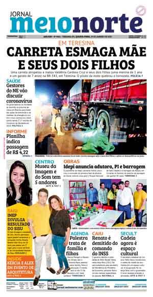 Jornal Meio Norte do dia 29-12-2020