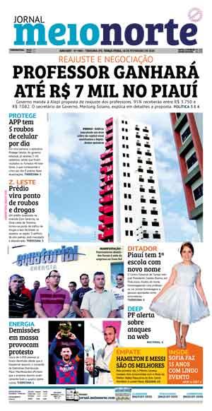 Jornal Meio Norte do dia 27-10-2019