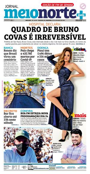 Capa do Jornal Meio Norte - 15/05/2021