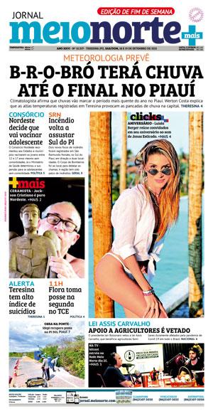 Capa do Jornal Meio Norte - 19/09/2021